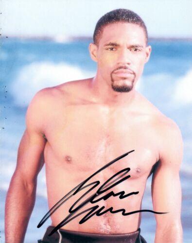 Jason George Signed 8x10 Photo Shirtless Grey's Anatomy Sunset Beach COA AB