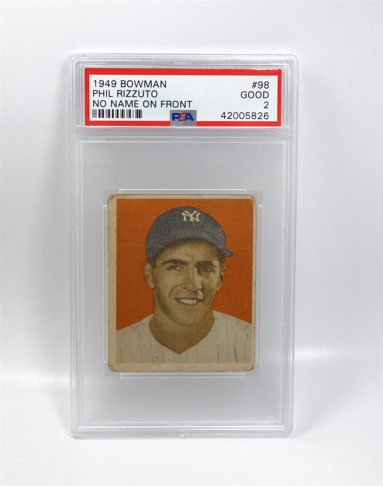 Details About Certified Vintage 1949 Bowman 98 Psa 2 Good Phil Rizzuto Baseball Card
