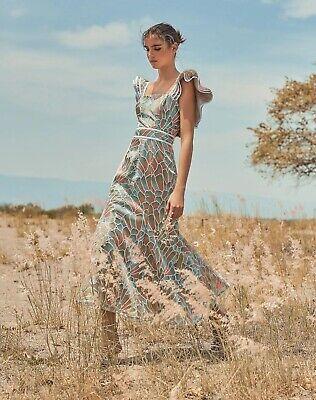 Anthropologie x Azulu KANO DRESS LENTEJUELAS FLORES Dress sz 8