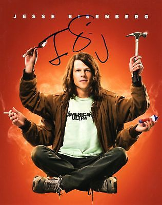 Jesse Eisenberg Signed 8x10 Photo American Ultra COA