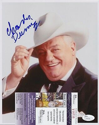 Charles Durning Signed 8x10 Photo w/ JSA COA The Best Little Whorehouse in