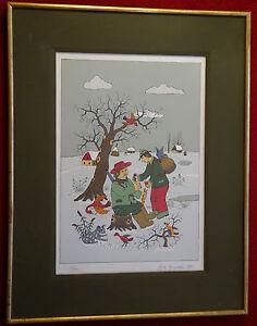 Josip Generalic, Naive Malerei, Druck 55/190, 1985,sign., gerahmt, verglast