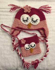 Crochet Owl Hat and Purse