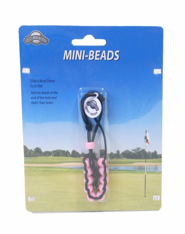 OnCourse Mini Beads Slotted Shot Counter (Pink) Score Keeper Golf