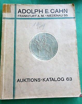 Auktions - Katalog 1929 Münzen Mittelalter  Köln Barbaren Orden Numismatik Cahn
