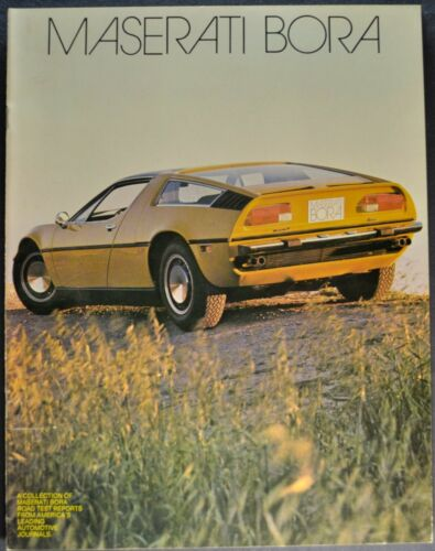 1973 Maserati Bora Road Test Catalog Sales Brochure Excellent Original 73