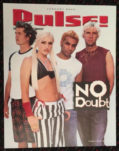 NO DOUBT Gwen Stefani PULSE 18x22 original promo poster TOWER Records 2002