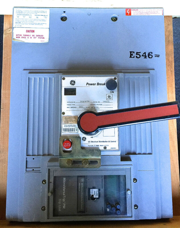 Ge Power Break Manually Operated Bolt In, Tp3030ttr, 3000 Amp 1 Year Warranty