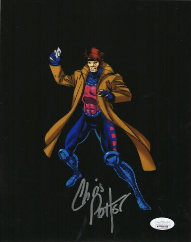 "Chris Potter Autograph Signed 8x10 Photo - X-Men Animated ""Gambit"" (JSA COA)"
