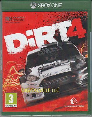 Dirt 4 Xbox One Brand New Factory Sealed Racing Game