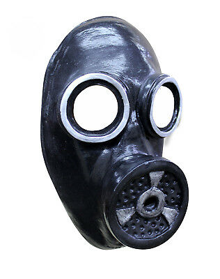 Scary Gas Mask Latex Rubber WW2 1940s Fallout Fancy Dress Halloween Costume - Scary Gasmask
