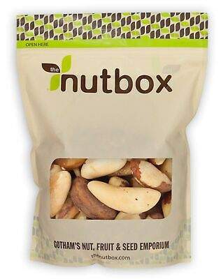 Nutbox | Raw Brazil Nuts 2 lbs, Rich in Selenium and Protein, Natural, Unsalt...