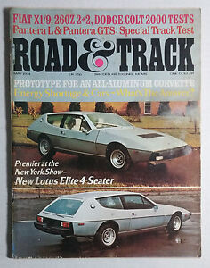 1974 ROAD and TRACK Magazines 10 Issues ALMOST 1 Year -January -November