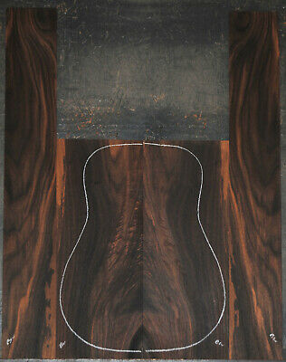 Figured Black Walnut Acoustic Guitar Back And Side Sets