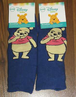 2-er Pack Baby Disney Winnie the Pooh Strumpfhose Gr. 62-68, 74-80 Blau Jungen 2er-pack Baby-hose