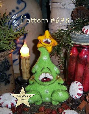 Patti's Ratties Primitive Christmas Tree Star Ornament Doll Paper Pattern #698