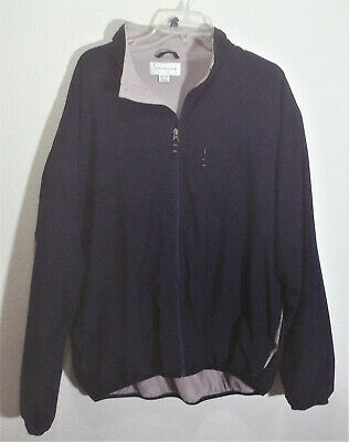 navy blue microfiber zipper front jacket by Cutter & Buck, size 2XL Cutter & Buck Microfiber Vest