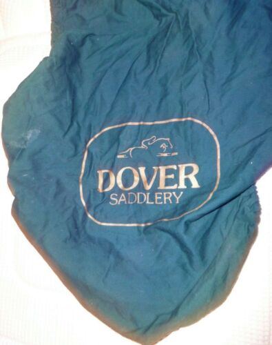 DOVER CIRCUIT English Saddle Cover - GREEN - Cotton Material - NICE!