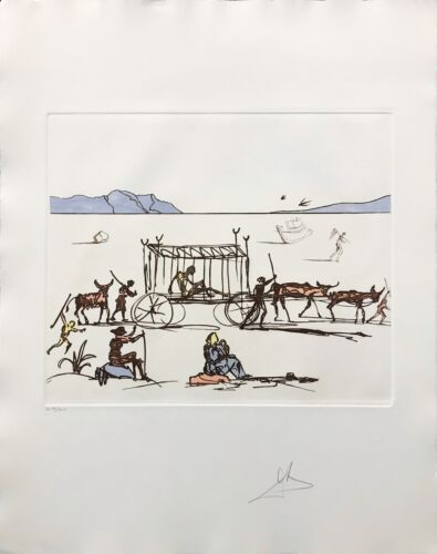"""Salvador Dali """"judgement"""" 1981 