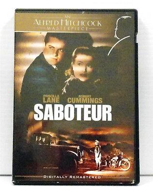 Saboteur ALFRED HITCHCOCK 1942 DVD, 2006 DIGITALLY REMASTERED