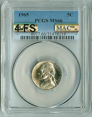Click now to see the BUY IT NOW Price! 1965 JEFFERSON NICKEL MS66 PCGS MAC 4 FS PQ 2ND FINEST REGISTRY 1 FINER !