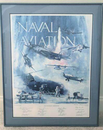 VERY RARE  w/COA  Ltd edition signed Rasmussen print Naval Aviation  Autographed