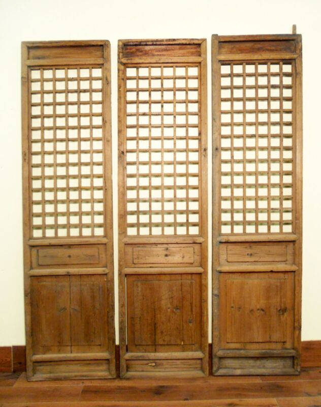Antique Chinese Screen Panels (5472)(Temple Door), Cunninghamia Wood, 1800-1849