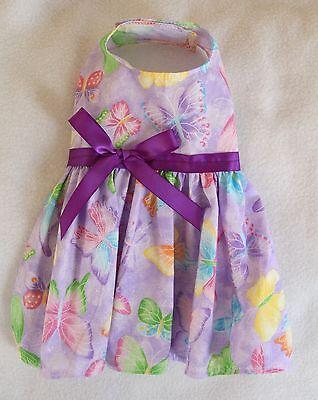 Xxxs Purple Butterfly Dog Dress Clothes Pet Apparel Clothing Teacup Pc Dog®