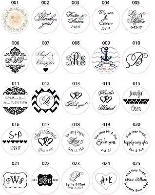 Wedding Invitation Envelope White Sticker Seals Monogram