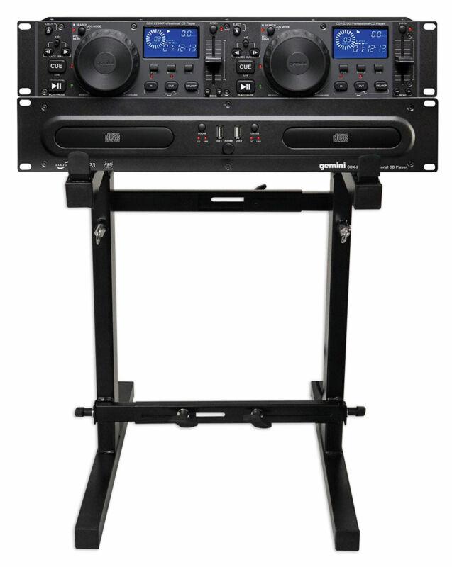 Gemini CDX-2250i DJ Dual Two Deck CD/MP3 Media Player+Adjustable Stand