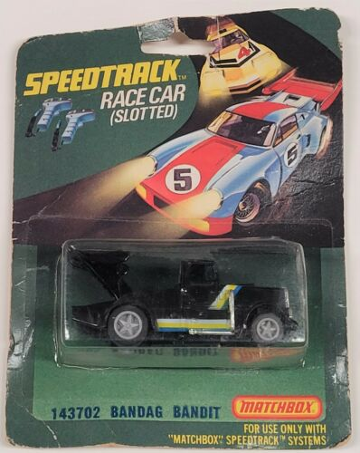 Matchbox Speedtrack Bandag Bandit HO Scale Slot Car in Black