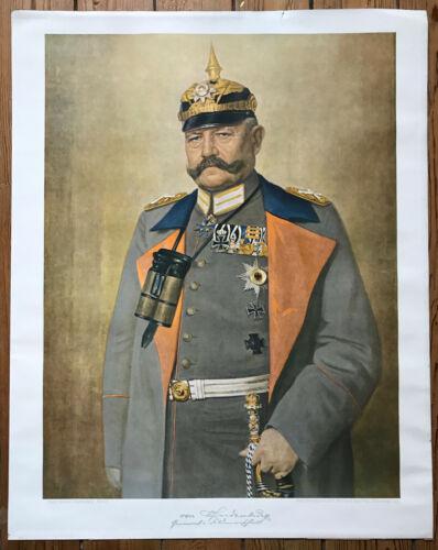 Von Hindenburg German Officer President Germany 48 x 60 cm WW I genuine poster