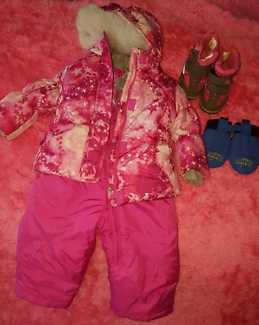 Toddler 18 months snow / ski suit and boots