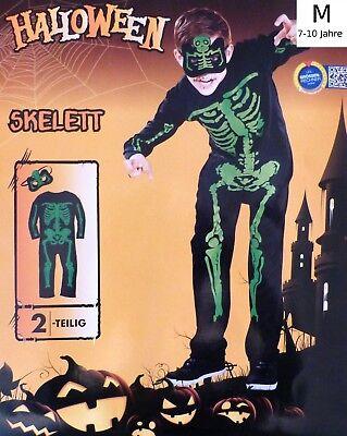 Kinder Karnevals Kostüm M Skelett Fasching Halloween Karneval Karnevalskostüm