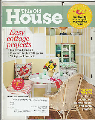This Old House Magazine September 2012 Free Shipping