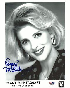 Image is loading Peggy-McIntaggart-Signed-Playboy-8x10-Photo-PSA-DNA- - %24_35
