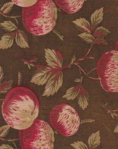 Antique 1870 Apples Fabric