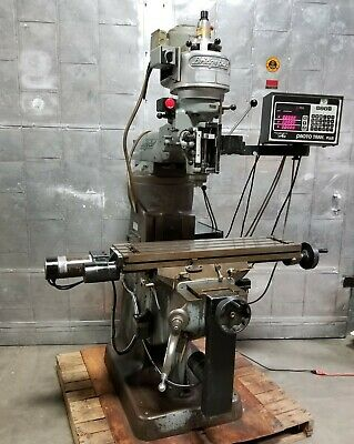 Bridgeport Vertical Mill Milling Machine Swi Proto Trak Plus 3 Axis Cnc Control