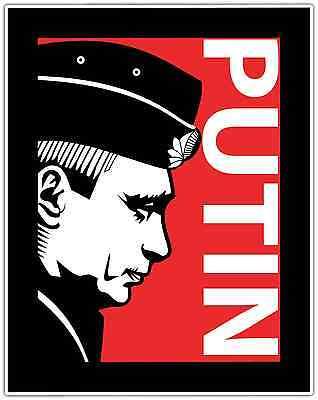 Vladimir Putin Russia President Car Bumper Window Locker Sticker Decal 4 X5