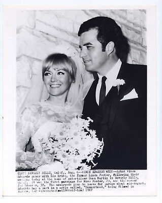 Vintage 1967 WEDDING Candid Original 8x10 VINCE EDWARDS Linda Foster
