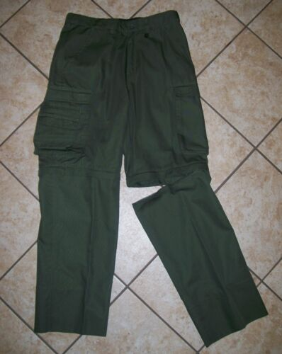 Official BSA Boy Scout Classic Uniform Convertible Pants Zip Off Legs sz 32 x 30