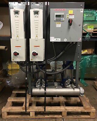 Xylem Vertical Multistage Duplex Water Booster 350 Gpm 89 Psi Grundfos Cr32