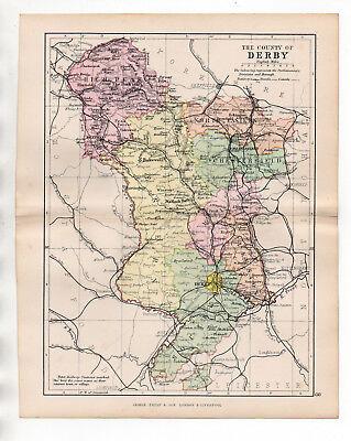Map Of Derby 1895 Derbyshire