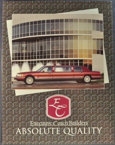 1995-1996 Executive Coach Builders Limousine Brochure Lincoln Town Car Cadillac