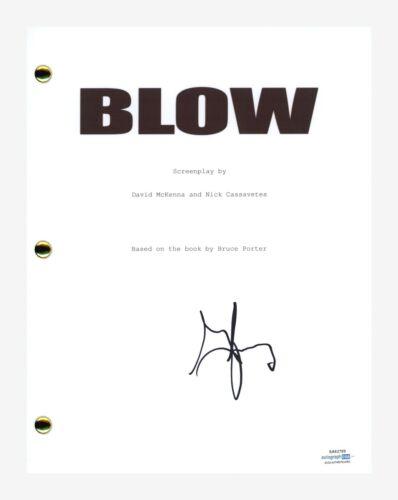 George Jung Signed Autographed Blow Movie Script Drug Smuggler ACOA COA