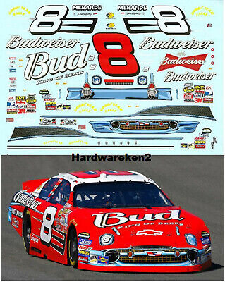 NASCAR DECAL # 8 '57 CHEVY BUDWEISER 2007 MONTE CARLO DALE EARNHARDT JR.