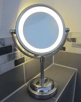 Magnifying LED Light Illuminated Make Up Cosmetic Bathroom Shaving Vanity Mirror