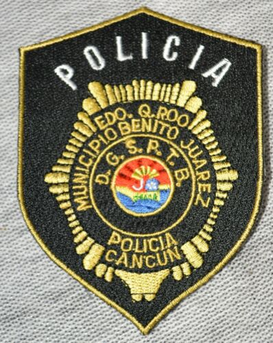 Vintage Patch Policia Municipio Benito Juarez Cancun Police Uniform Costume