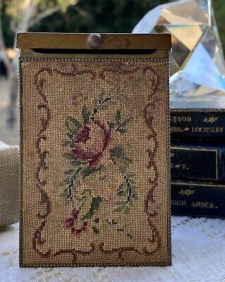 Vintage Brass Flip Top Cigarette Box