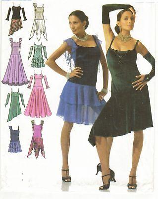 Misses Design Your Own Skating Dance Hem Var. Dress Costume Sew Pattern 12-20 - Design Your Costume